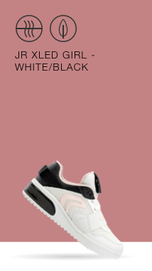 35ca45a076f74 The Junior Girls XLED in white is a low top sneaker with customizable LED  lights on