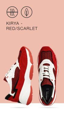 buy popular 8bc48 88fac The Geox Kirya in red is an on-trend sneaker for women with a triple